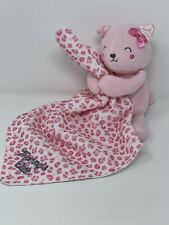 Child Of Mine Pink Cat Leopard Security Blankey Lovey Rattle Mommys Cutie Baby