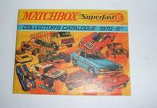 Raro Matchbox Toys catálogo, de 1970, con un precio 6d, - Excelentes Perfecto.
