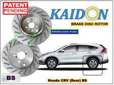 "Honda CRV brake disc rotor KAIDON (REAR) type ""BS"" / ""RS"" spec"