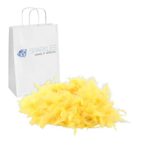 2yd Yellow Feather Boa Birthday Bachelorette Party Wedding Special Event Decor
