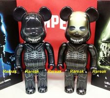 Medicom 2016 Be@rbrick 20th Century Fox 400% Alien & Warrior Alien Bearbrick 2pc