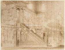Interior Mosque Mohamet Ali, Cairo, Egypt - 1880s Arnoux Albumen Photograph