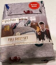 Harry Potter Jersey  4 Pc Full Sheet Set  NEW!