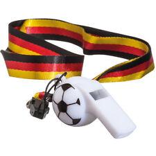 Deutschland Fanartikel Trillerpfeife Umhängeband Halsband Fussball WM EM