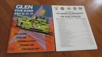 1974 Watkins Glen race program with entry lists Six Hours Can-Am and Trans-Am
