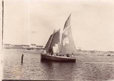 DT286 Photographie photo vintage Snapshot bateau ship boat voilier mer sea
