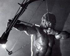 Rambo III Sylvester Stallone Arrow BW 10x8 Photo