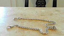 """Colibri Beautiful Vintage ss Link Pocket Watch Chain Fob Pendant 14"""""""