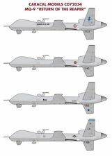 """Caracal Models 1/72 decals for MQ-9 """"Return of the Reaper""""  CD72034"""