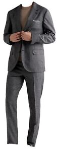 Brunello Cucinelli Houndstooth Wool and Silk Blend Suit Size 50 NWT $4125