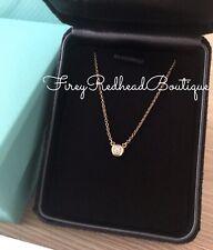 Tiffany DBTY Necklace 18K Rose Gold w/ Single .10 Diamond