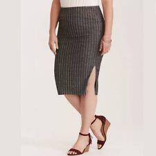 Torrid Sliver Glitter Rib Midi Pencil Skirt 0X Large 12 #80612