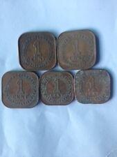 Malaya  KGVl 1939,1940,1941i,1943 n 1945 coins x 5pcs complete years  !!