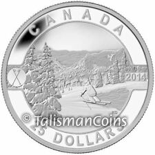 Canada 2014 Oh! Canada 3 Skiing Canada's Scenic Slopes $25 1 Oz Silver Proof