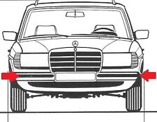 Mercedes W123 Sedan & TE Estate 200-300 TD Bumper Reinforcement, NEW, FREE SHIPP