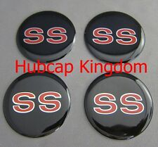 "NEW CHEVROLET RED SS Style Wheel Rim Center Cap STICKER DECAL 1 3/4"" 44MM Set"