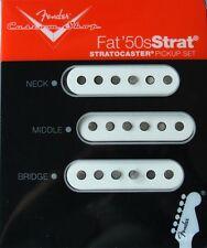 Fender Custom Shop Fat 50's Stratocaster Pickup Set (3), White, MPN 0992113000