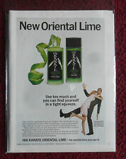 1968 Print Ad HAI KARATE After Shave Cologne ~ Find Yourself in A Tight Squeeze