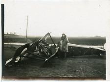 Avion ancien crashé. Old plane crash  Vintage silver print.  Tirage argentique
