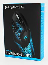 Logitech g402 Hyperion Fury-gaming mouse/ratón-negro/black-nuevo & OVP