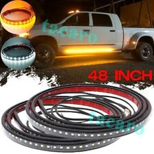 "48"" Running Board LED Light Bar Side Step Strip Amber White Signal Car Truck SUV"