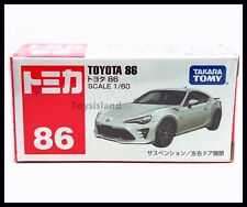 TOMICA #86 TOYOTA NEW 86 1/60 TOMY 2016 AUGUST MODEL DIECAST CAR WHITE