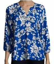NWT Ivanka Trump Blue White Floral Top Blouse Tunic Women's Size XS retail $69