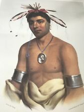 PHILA. EXHIBITION POSTER NATIVE AMERICAN POSTER CHARLES BIRD KING J-AW-BEANCE