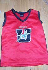 UPWARD Cheerleading Uniform TOP Size YOUTH LARGE - Red Gray Black White