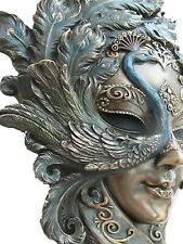 Venezianische Maske Pavone der Pfau Wand Deko Karneval Venedig Maskerade 20405