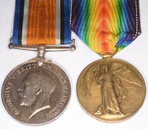 WWI WW1 First World War One BWM AVM medal pair 50560 2AM G W Galloway RAF