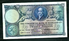 More details for scotland commercial bank (s334) 20 pounds 1958 avf