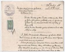 (I.B) Edward VII Revenue : Judicature Fees 1/- (complete document)