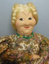 Vintage Large Tea Cozy Doll Russia Hand Made Molded Cloth Face and Hands