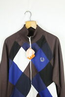RETRO VINTAGE Mens FRED PERRY Track JACKET Large ZIPPER COVENT GARDEN Zipper P3
