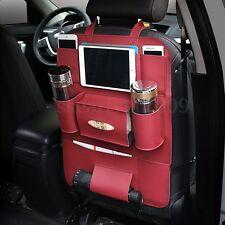 Car Seat Back Bag Organizer Storage iPad Phone Holder Multi-Pocket Leather New