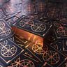 NEW Wheel Of Fortune Tarot 78 Bronzing Golden Cards Golden Line With Card Bag