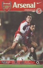 ARSENAL V MIDDLESBROUGH 24TH JANUARY 2004 WITH EDU POSTER IN THE MIDDLE