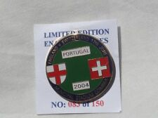 ENGLAND V SWITZERLAND EURO 2004 OFFICIAL RARE PIN BADGE IN VERY GOOD CONDITION