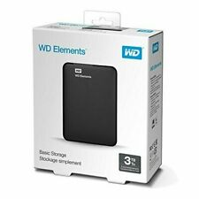 Western Digital Elements 3 TB,External,5400 RPM,2.5 inch (WDBU6Y0030BBK-WESN) Haqrd Drive