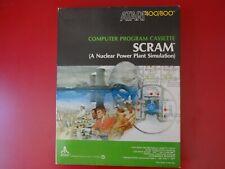 SCRAM 1981 Atari 400/800 A Nuclear Power Plant Simulation CX4123