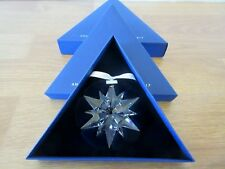 2017 Swarovski Large Crystal Snowflake / Star Christmas Ornament