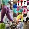 Women Yoga Workout Leggings High Waisted Gym Slim Fit Capri Sport Jumpsuit Pants