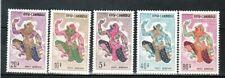 CAMBODIA Sc C19-27 NH issue of 1964 - REGULAR SET+ OLYMPICS OVPR