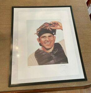 Yogi Berra Lithograph Autographed By Berra & Artist James Fiorentino 14/500