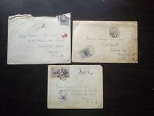 THREE 1916 JAPAN TO U.S. COVERS - KIOTO & OSAKA POSTMARKS
