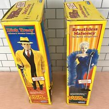 """Dick Tracy & Breathless Mahoney Madonna Large 15"""" Dolls 1990 - Lot of 2 w/Boxes"""