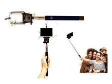 NEW SELFIE CELFIE STICK MONOPOD TELESCOPIC WITH PLUG IN LEAD SMART PHONE CAMERA
