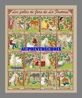 Diagramme point de croix - 16 Fables de Jean de La Fontaine (13)
