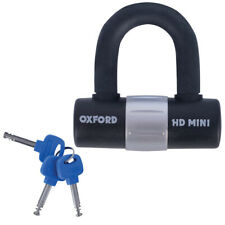 Oxford HD Mini U Shackle Lock. 14mm Hardened Steel. Sold Secure Silver Scooter.